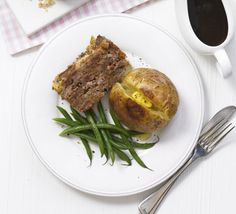 This great-value supper is delicious served with jacket potatoes, green beans and gravy