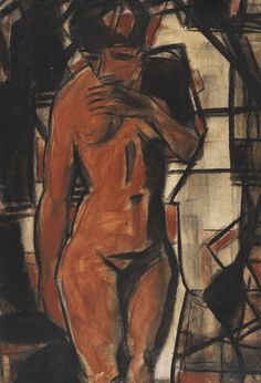 Standing Female Nude, 1925. Christian Rohlfs