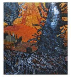 Artist:  CHAITALI MALLICK Title:  WILD FIRE Medium:  ACRYLIC ON CANVAS Size:  150X 120 Exhibition:  50th Annual Exhibition, 2017 Price:  55,000