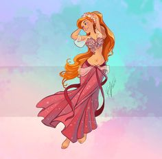 Disney Belly Dancers: Giselle by Blatterbury on DeviantArt Disney Pictures, Animated Movies, Disney Love, Disney Girls, Disney Art, Art, Modern Disney, Disney Animation