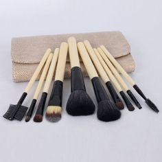 10pcs Cream Color Eyeshadow Blush Cosmetic Makeup Brush Set High QualityCase10 -- Read more  at the image link.