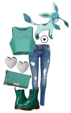 """""""Glaceon - Pokemon"""" by princesselesa ❤ liked on Polyvore featuring TIBI, Burberry, Links of London and Dr. Martens"""