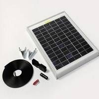 10 Watt Solar Panel Kits. Great for lighting power on 2 day caravan trips and by using a power inverter can also charge small power tools and run an electric fence