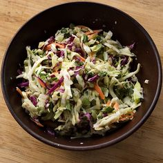 [SPICED UP MEXICAN COLESLAW] :: buttermilt, mayo, cider vinegar, lemon or lime juice, sugar, salt, black pepper, shredded green and red cabbage, carrots, cilantro, green onions, jalepeno & salt.