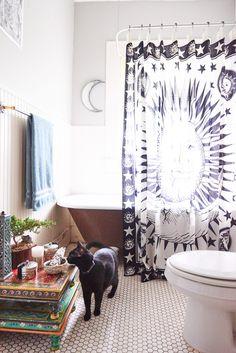 Celestial Shower Curtain. #showercurtain #homedecor #EBhome #earthboundtrading