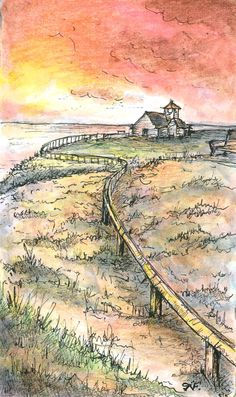 Line and wash by Robert Fehrenbacker. Finished on 5-9-14. From image online.