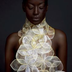 Body adornment inspired by natural forms A celebration of wit, vision and craft. As chosen by the eco-design expert Marcus Fairs Origami Fashion, Bob Mackie, Denim Jacket Diy, Street Style Photography, 3d Mode, Halloween Karneval, Iris Van Herpen, Fashion Details, Fashion Design
