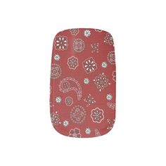 Red Bandana Pattern Minx Nails Nail Stickers
