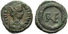 Collezione privata. Decanummo in bronzo di Vitige. Bronze decanummo of Vitige.