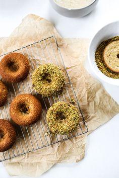 Gluten-Free Lemon Pistachio Donuts | edibleperspective.com