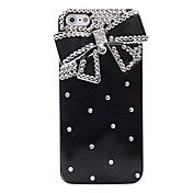 Bowknot Pattern Metal Jewelry Back Case for i... – USD $ 4.99