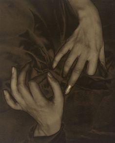 Alfred Stieglitz. 'Georgia O'Keeffe - Hands and Thimble' 1919