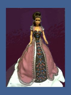 Bob Mackie inspired Barbie doll cake