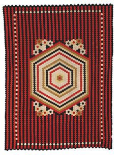 """""""War and Pieced,"""" a new exhibition organized by the American Folk Art Museum in New York, showcases quilts made by men during times of war. Old Quilts, Antique Quilts, Red And White Quilts, New York Museums, New Museum, Hexagon Quilt, Museum Exhibition, Outsider Art, Quilt Making"""