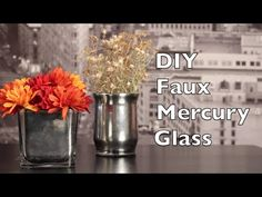 Learn how to make mercury glass in this DIY mercury glass tutorial. This DIY tutorial will show you how to make mercury glass in a simple step by step process. In this DIY tutorial I show step by step how to Painted Vases, Painted Mason Jars, Krylon Looking Glass, 3d Art Projects, Pottery Barn Inspired, Christmas Diy, Christmas Decorations, Mercury Glass, Repurpose