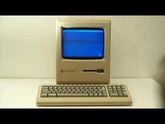 Mac Plus surfing the web - YouTube