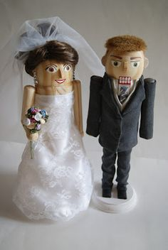 Really Cool Nutcrackers: Beautiful Bride and Handsome Groom Nutcrackers