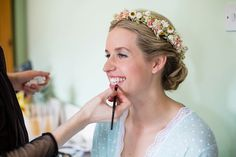 Bride wears a Dried Flower Crown | Photography by http://www.johastingsphotography.co.uk/