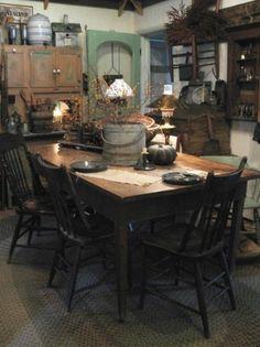 primitive dining room on pinterest windsor chairs primitive dining