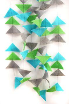 Geometric felt garland by AshesAshesDesign on Etsy, $12.00