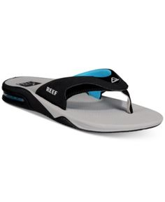 ae132b4bad73 Reef Men s Fanning Thong Sandals with Bottle Opener - Gray 11