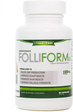Folliform | DHT Blocker for Men and Women | 1500mg Natural Hair Loss Supplement | Saw Palmetto Pygeum Nettle Root Formula