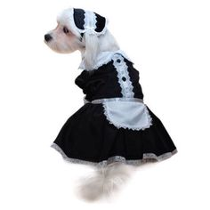 French Maid, Rocky Horror inspired, pet costume. £14.99