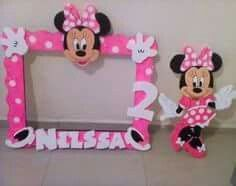 Minnie Mouse Theme Party, Fiesta Mickey Mouse, Minnie Mouse 1st Birthday, Minnie Mouse Baby Shower, Marcos Para Baby Shower, Mickey E Minie, Foto Baby, Baby Party, 2nd Birthday Parties