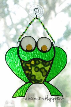 Stained glass frog.