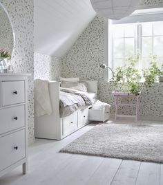 Best Ikea Furniture And Decor Pieces For Small Bedrooms Best Ikea Furniture And Decor Pieces For Small Bedrooms Caroline Meine Wohnung mein Leben mit dir Shop domino […] for home living room top 10 Room Ideas Bedroom, Bedroom Decor, Ikea Hemnes Daybed, Hemnes Bed, Ikea Small Bedroom, Daybed Room, Decoration Ikea, Small Room Design, One Bedroom Apartment