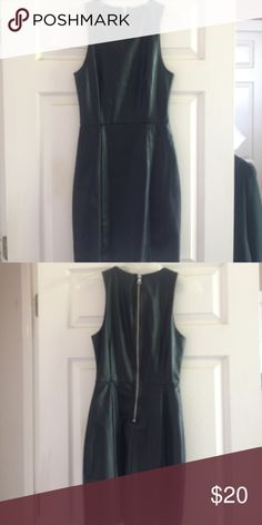 Black pleather dress Never worn xs little black leather dress H&M Dresses Mini