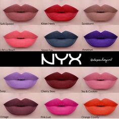 """""""Who else is excited about the new @nyxcosmetics liquid suede lippies??!! Beautifully swatched on this perfect pout by @depechegurl  Can't wait  I'm…"""""""
