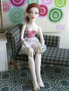 OOAK Farrah 22 034 NWT Lady Boudoir Art Doll All Cloth BJD Size Gayle Wray | eBay