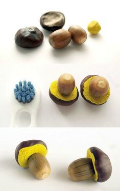 Anleitung – Pilze mit Eicheln, Kastanien und Modelliermasse basteln Instructions – Make mushrooms with acorns, chestnuts and modeling clay Autumn Crafts, Fall Crafts For Kids, Nature Crafts, Diy For Kids, Christmas Crafts, Halloween Crafts, Diy Crafts To Do, Clay Crafts, Arts And Crafts