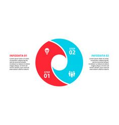 Circle element for infographic with 2 options vector Circle Infographic, Infographic Templates, Free Vector Images, Vector Free, Circle Diagram, Process Chart, Computer Vector, Vector Online, Happy New Year 2019