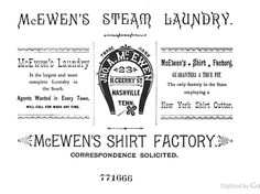 McEwen's 1883 Nashville Business