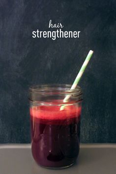 Hair Strengthening Juice- beets, carrot, ginger, lemon, and cucumber! I'm going to make this!