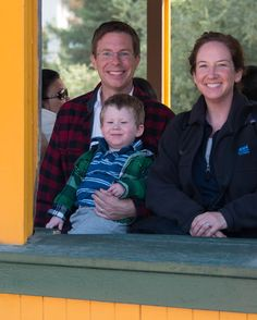 The Family at Thomas the Train Day