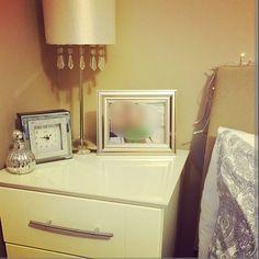 One of the bedside tables I painted #diy #homedesign #homedecor #furnituremakeover #diy #bedsidetabledecor #bedroominspiration by d.i.y.home.decor_inspiration