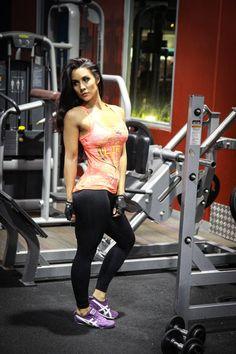@strongliftwear Womens 'Crest' Singlet - Neon Orange  www.strongliftwear.com