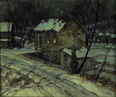 George William Sotter (American, 1879-1953) A Little House, Winter