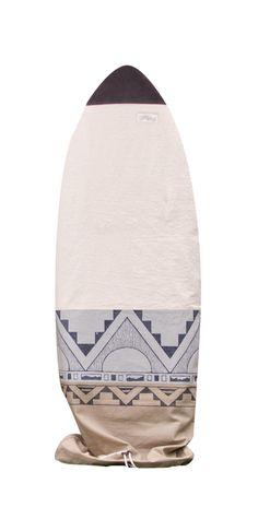 Retro Scribbs surfboard bag, chapman at sea