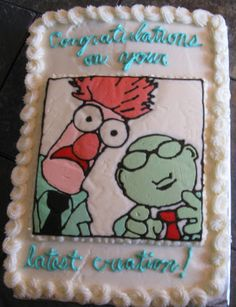Cattapan's Cookies & Cakes: Muppets Baby Shower Cake for a Science Teacher