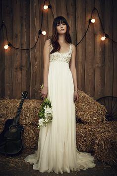 Packham Brautmode Hochzeitskleid lang schlicht                                                                                                                                                                                 Mehr