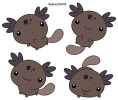 Chibi Wild-type Axolotl by Daieny on DeviantArt