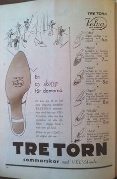 Ad for shoes from Swedish brand Tretorn, Helsingborg, Sweden 1933