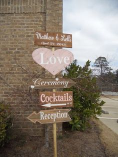 Rustic Glam wedding sign ~ I really like this sign!
