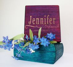 Cute bridesmaid proposal, unfinished wood box, bridesmaid gift box,custom gift box,brightly colored box,custom gift box,brightly colored box by EngiftingCompany on Etsy