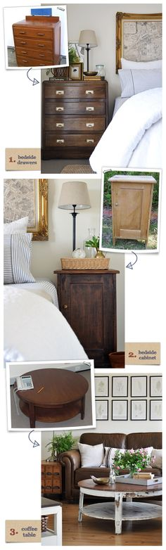 How to Stain and Seal Wooden Furniture via The Painted Hive