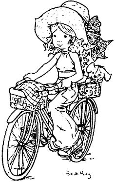 32 Illustratoren – Sarah Kay – vol 31073 Vintage Coloring Books, Coloring Book Pages, Colouring Pics, Coloring For Kids, Sarah Kay Imagenes, Sarah Key, Illustration, Holly Hobbie, Copics